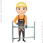 stawianie rusztowań na budowie